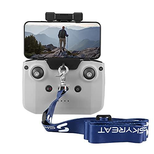 SKYREAT Cinghia per Drone con Tracolla Regolabile in Nylon Intrecciato di Alta qualità con Adattatore per Gancio per Telecomando DJI Mavic Air 2 / Air 2S / Mavic Mini 2