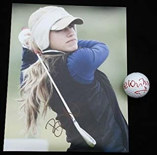 Autographed Belen Mozo Photo - 8x10 & Ball Lot w Proof!) - Autographed Golf Photos