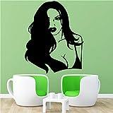 AGjDF Sexy Femme Dessin animé Mur Autocollant Mural Art Affiche pour la décoration de la Maison Salon Chambre Autocollant mural30x36 cm