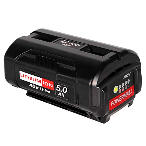 Powermall Lithium-Ion 40V 5.0Ah Battery Compatible with Ryobi 40 Volt Collection Cordless Power Tool OP4040 OP4026A OP40201 OP40261 OP4030 OP40301 OP40401 OP40601 OP40501
