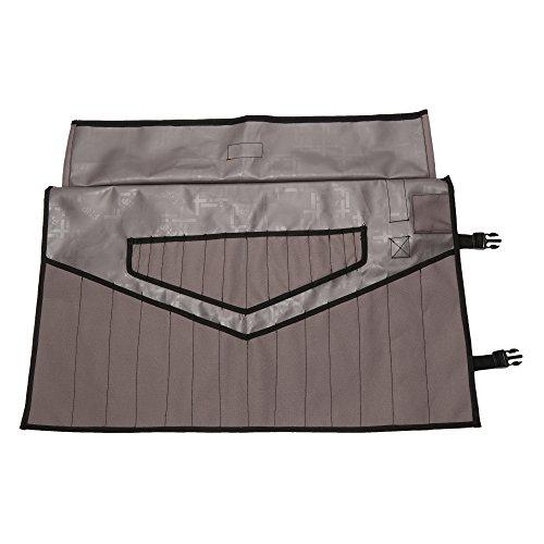 Bull Tools 28 Pocket BT 1720 Schraubenschlüssel/Werkzeugtasche 600D Canvas grau