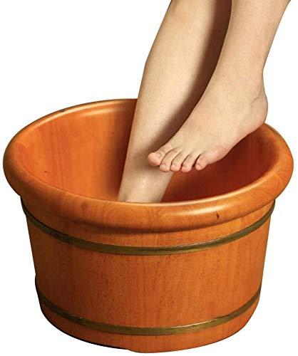 LJBXDCZ NJ vrijstaande badkuip van eikenhout, voetbad, kleine wasbak om in te weken met deksel voor voetverzorging, verbetering van de slaap 3,5 Blue