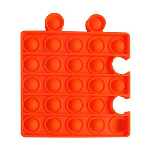 ZHBB Juguetes Push Bubble Sensory Toy Vent Toys Stress Reliever Puzzle Soft Decompression Toys Anti-Stress Squeeze Kids Toy Orange