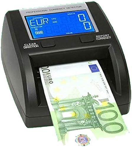 Yatek SE-0320-B Détecteur de faux billets avec batterie pour EUR, GBP, SEK, testé par la BCE, permet de compter les billets et de calculer des sommes, accepte les nouveaux billets de 50  span                                  a
