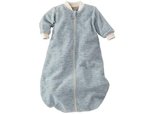 Lilano 250090 Schlafsack, 100 % Bio-Merinowolle, mit Reißverschluss Made in Germany - Blau - 86/92 cm (12- 24 Monate)
