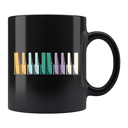 Regalo para pianista, bonita taza de piano, taza de teclado, taza para profesor de piano, taza de café pianista, taza de cerámica de 445 ml