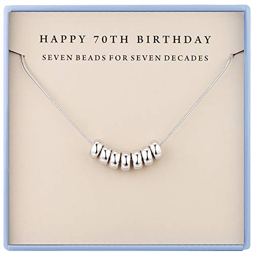 70th Birthday Gifts for Women 1950 Gifts Sterling Silver Necklaces 70th Birthday Necklace for Women