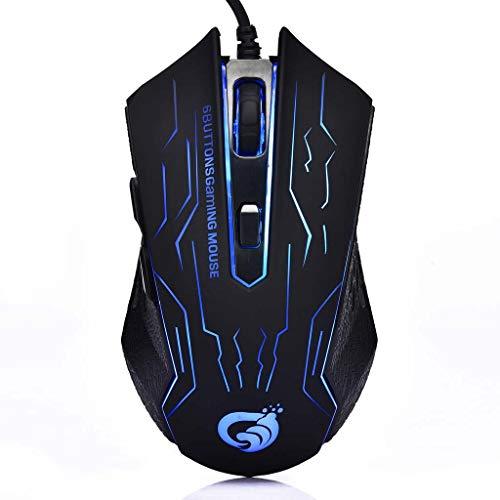 BGH ER-NMBGH Gaming-Maus, 6 Tasten, 2400 DPI, kabelgebunden, automatischer Farbwechsel, stumm, optische Mäuse...