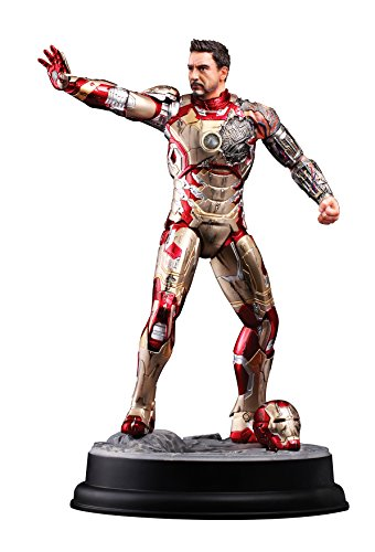 Dragon 014628 Iron Man 3 : Mark XLII (Battle Damaged Version) 1:9 Model Kit, Or, Rouge
