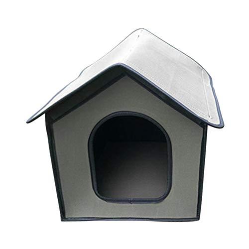 MANGGUO Pet Outdoor House, wasserdichtes, isoliertes, wetterfestes Katzenhaus, faltbares Tierheim für Hunde mit rutschfesten Füßen und Krawatten, Filzkatzenhaus-Höhle für Katzen und kleine Hunde