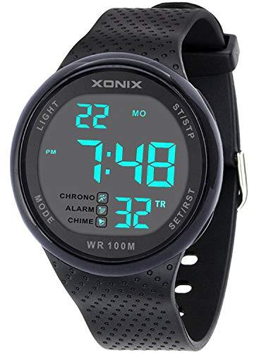 Reloj deportivo para hombre, impermeable, 100 m, correa de r