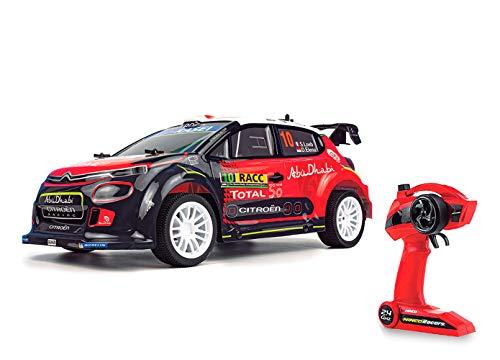 Ninco (NH93150 NincoRacers Citroën C3 WRC Oficial del Campeonato Mundial de Rallyes. Escala 1/10. Coche teledirigido. 2.4GHz Color: Rojo y Negro. Medidas: 42 cm x 13,5 cm x 20 cm