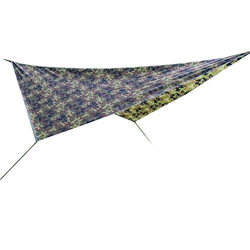 Outdoor camouflage luifel Multifunctionele camping strand mat waterproof zonnebrandcrème luifel schaduw tent voor Camping, Backpacken, Survival