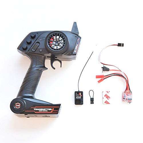 ?axMetal WPL Upgrade WPL OP Fitting Accessories Full Scale Remote Control Model/Ship Model General Purpose 3 Channel Transmitter (Remote Control & ESC)
