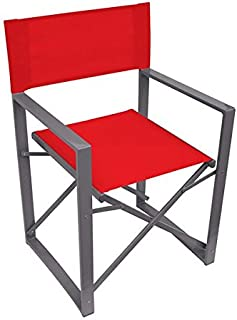 Yellowstone Vector Folding Directors Outdoor Chair for Camping/Garden | Red