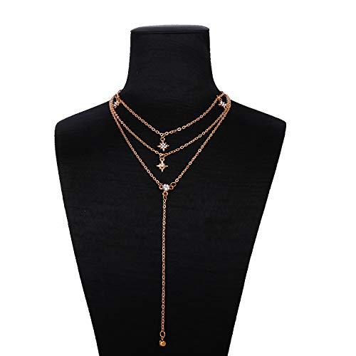 Bohemia cadena larga Y collar con colgante de borla estrella gargantilla sexy rock hecho a mano vintage collar mujeres accesorios