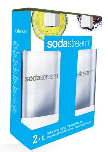 SodaStream 1-liter flessen, dubbelpak, wit