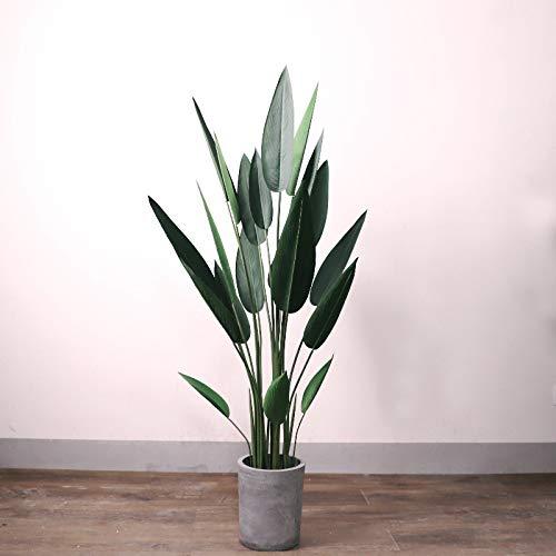 MyWheelieBin Canna Simulation De Plantes en Pot Plantes Vertes Décoration Intérieure Fleur Décorative en Pot Canna 140cm-sans Bassin en Ciment