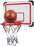 daxiongdi Canasta de Baloncesto para niños 50 cm en Forma de Guardia Tarjeta para Colgar en la Pared + Canasta de Canasta Canasta de Tiro de Baloncesto estándar para jóvenes