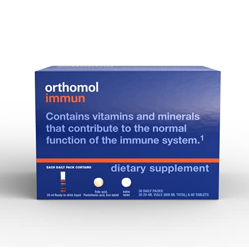 Orthomol Immun – Immune Multi-Support with Vitamin A, B, C, D, E, K, Zinc, Iodine and More Daily Vitamins in Vial with Capsules, 30-Day Supply, Supports Healthy Immune System, for Men, Women