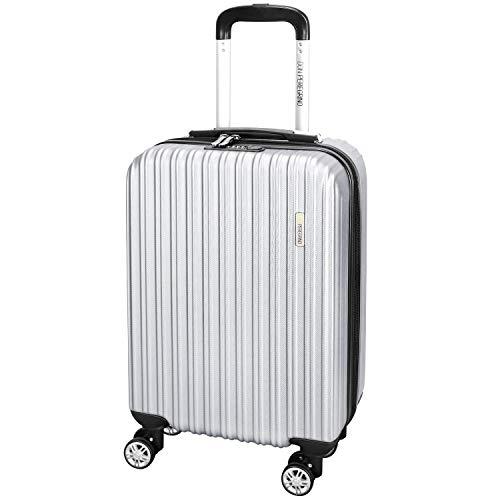 DONPEREGRINO Valigia Bagaglio a Mano 55x35x20 Leggero & Resistente, Valigia Rigida da Viaggio Interno Completamente Foderato con 4 Doppie Ruote
