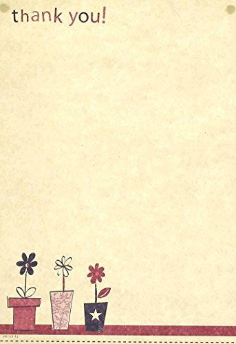 Cards Galore Online Dankeskarten mit Umschlägen, Burgunderrot/Violett, 20 Stück