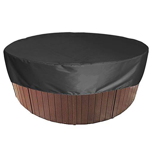 WWJJLL Cubierta de bañera de hidromasaje para Patio al Aire Libre, Cubierta Redonda Impermeable Plegable para bañera de hidromasaje para SPA, Cubierta Protectora a Prueba de Polvo,1,200 * 30cm