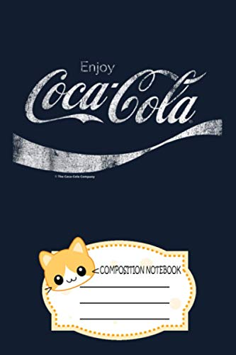 Coca-cola Vintage White Enjoy Logo Graphic YC Notebook: 120 Wide Lined Pages...