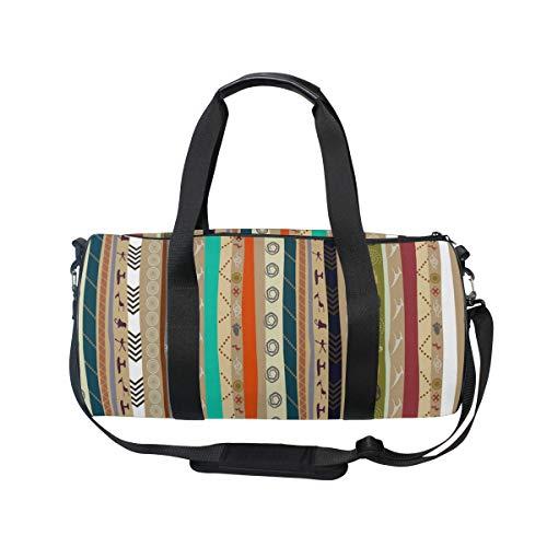 MNSRUU Sporttasche mit Ethno-Muster, große Reisetasche, unisex, hohe Kapazität, großes Gepäck, Sporttasche