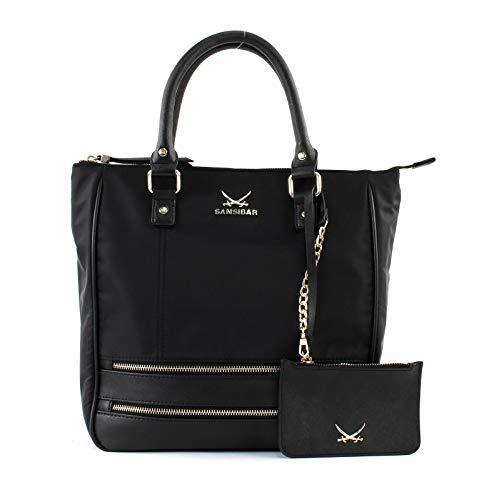 Sansibar Shopper Bag, Black (Schwarz), 31 x 13 x 33,5