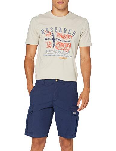 NAPAPIJRI Noto 3 Pantaloncini, Blu (Medieval Blue Bb61), 42 (Taglia Unica: 32) Uomo