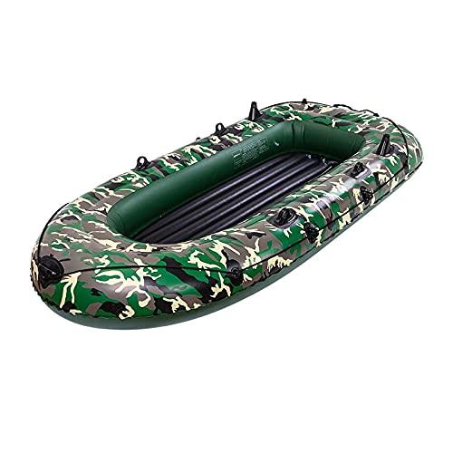 Gaoweipeng 2-4 Personas Kayak Hinchable Plegable Conveniente Bote Inflable Comodidad Piraguaseguridad Barco De Asalto Estabilidad Balsa Adulto Canoa,2 People 198CM*122CM