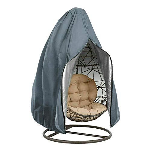 HDS Oxford Cloth Patio-Garten-wasserdichte Anti UV Outdoor-Easy Clean Staubdichtes-Schwingen-Stuhl-Abdeckung Hänge Hammock Egg Wicker Ständer (Color : Grey, Specification : 115x190cm)
