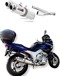 TDM 850 Escape Moto Deportivo Redondo Silenciador Dominator Exhaust Racing Slip-on 1991 1992 1993 1994 1995 1996 1997 1998 1999 2000 2001