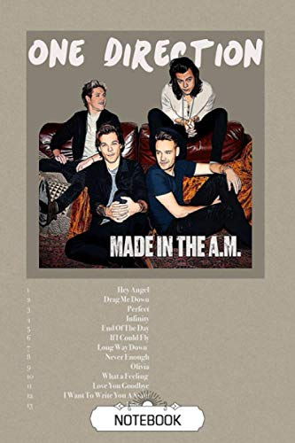 Notebook : One Direction Lined Notebook Journal for Teens, Perfect for School, Diary, Journal, Perfect Gift Christmas Gift, Thankgiving , Newyear