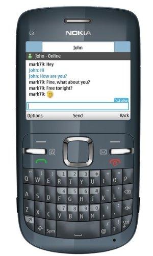 Nokia C3 Smartphone (6.1 cm (2.4 Zoll) Display, Bluetooth, 2 Megapixel Kamera, QWERTZ-Tastatur) grau