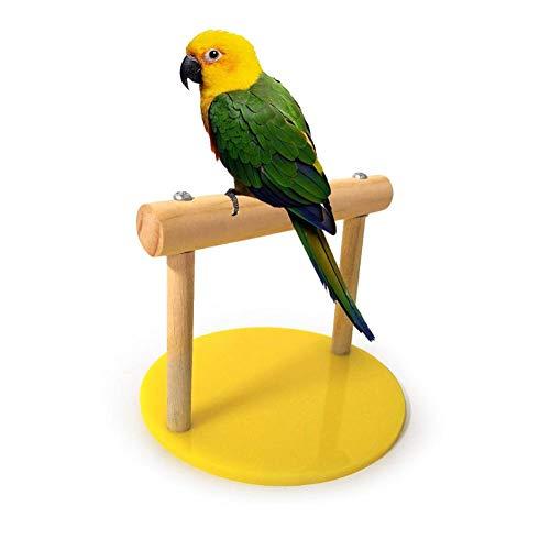 Trespolo di pappagalli, Supporti per Giochi per Uccelli Ripiano da Tavolo in Legno Parco Giochi per addestramento Portatile Pappagallo Masticare Giocattolo mordace Accessori per Gabbia per Uccelli