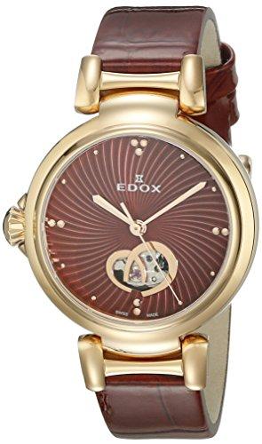 Edox 85025 37RC ROUIR LaPassion Reloj analógico Suizo automático Rojo para Mujer