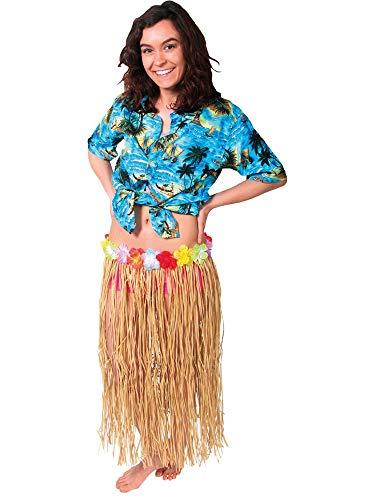 Hawaii lange rok beachparty 80 cm natuur
