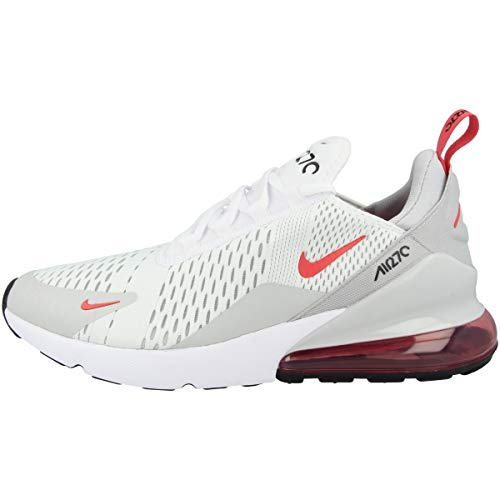 Nike Air MAX 270, Zapatillas para Correr Hombre, White Lt Fusion Red Grey Fog Black, 43 EU