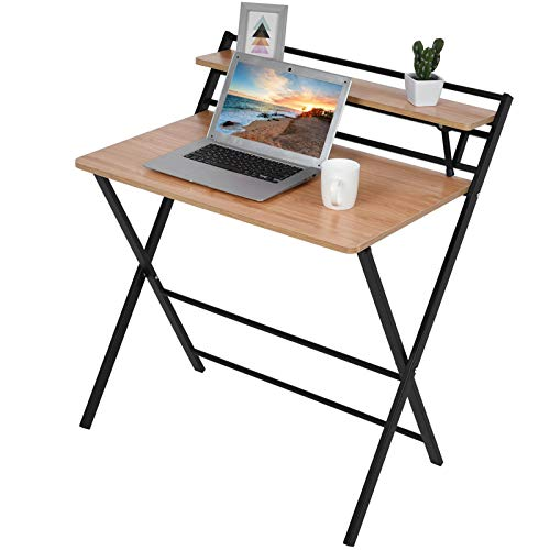SMIDOW Folding Computer Desk | Gamer Workstation Game Table | 31 in Home Office Laptop Table | Multi Purpose Foldable Study Desk | Best Gift for Child Students Adult | US in Stock