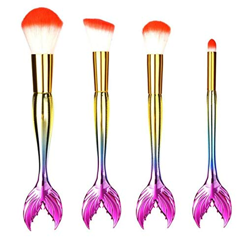 MEIYY Pinceau de maquillage 4Pcs Make Up Brushes Professional Foundation Eyebrow Eyeliner Blush Cosmetic Concealer Brushes
