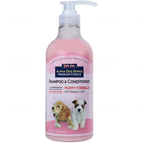 All Natural, Hypoallergenic | Gentle Puppy Shampoo + Conditioner with Aloe Vera | Antibacterial | pH Balanced | Tear Free | Detangler & Moisturizer | Odor Eliminator | Grooming Quality