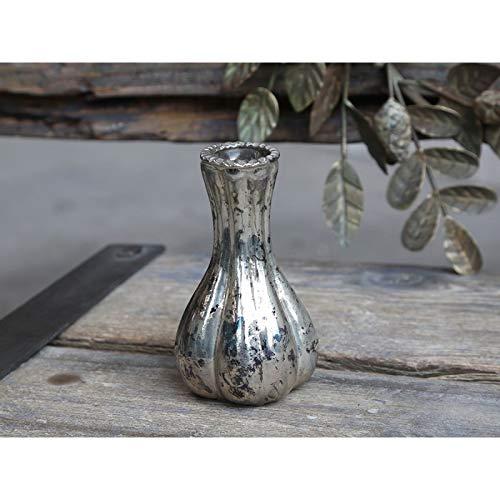 Chic Antique französische Vase Blumenvase 74047-12 Blumenvase Bauernsilber Dänemark Antik Silber h11xØ7 cm
