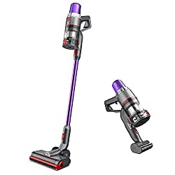 Removable Battery - Vacuum generates running time from 15 minutes to 40 minutes. The removable battery facilitates both separate charging and wall charger, you can get spare packs to extend the running time. Impressive Extreme Suction - 350W Brushles...