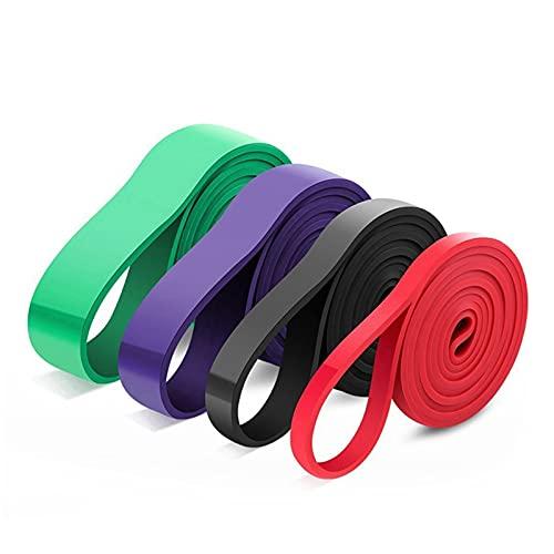 QKFON Juego de 4 bandas de asistencia para dominadas de 2 m de grosor, elásticas y resistentes para entrenamiento de barbillas, fitness, elástico, adecuado para ejercicio, fitness, hombres y mujeres