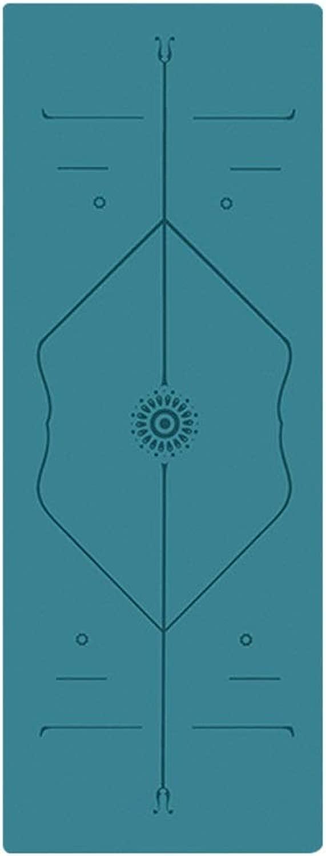 天然ゴムヨガマット滑り止め初心者女性フィットネスマット肥厚幅の長いマットスリーピース アナックボーイ (Color : Gray)