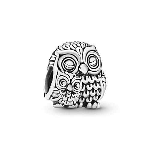 Applicable to Pandoras Moments Mother Owl and Baby Owl Charm Sterling Silver 791966