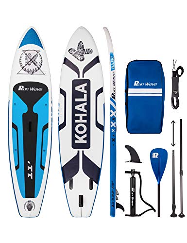cheap Runwave Inflatable Paddle Board 11ft x 33inch x 6inch (6inch Thickness) Premium SUP Non-Slip Deck …