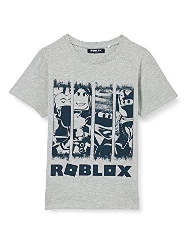 NAME IT Jungen NKMROBLOX Marcos SS TOP Box NOOS Bio T-Shirt, Grey Melange, 134-140